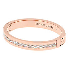 Michael Kors Ladies' Rose Gold Tone Stone Set bangle - Product number 5150698