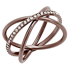 Michael Kors Stainless Steel Stone Set Ring - Product number 5150736