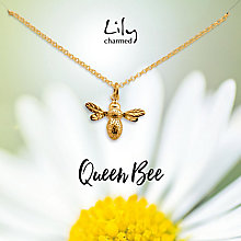Lily Charmed 18ct Gold Plated Silver Bee Pendant - Product number 5156157