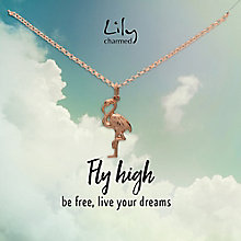 Lily Charmed Rose Gold Plated Silver Flamingo Pendant - Product number 5156181