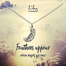 Lily Charmed Silver Feather Pendant - Product number 5156246