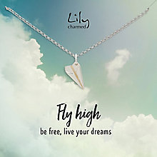 Lily Charmed Silver Paper Plane Pendant - Product number 5156289
