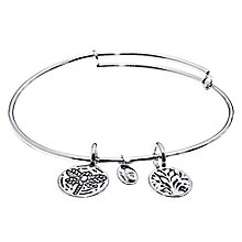 Chrysalis Rhodium plated Tree of Life Bangle - Product number 5156386