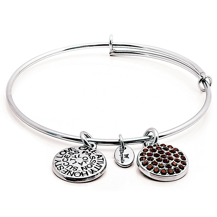 Chrysalis Rhodium plated January Swarovski crystal Bangle - Product number 5156416