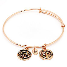 Chrysalis Rose Gold plated Love Bangle - Product number 5156505