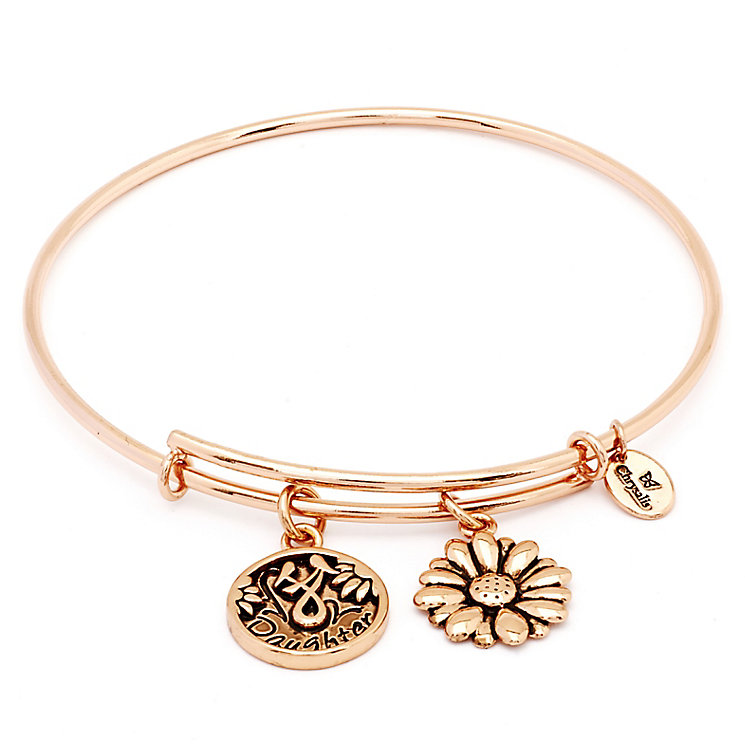 Chrysalis Rose Gold plated Daughter Charm Bangle - Product number 5156556