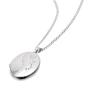 9ct White Gold Large Tulip Locket - Product number 5157927