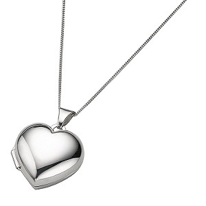 9ct White Gold Polished Heart Locket - Product number 5157951