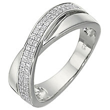 Sterling Silver Cubic Zirconia Ring Size O - Product number 5158362
