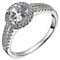 Sterling Silver Cubic Zirconia Halo Ring Size K - Product number 5158508
