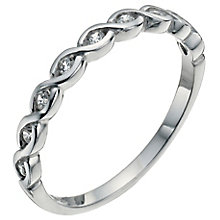 Sterling Silver & Cubic Zirconia Ring Size O - Product number 5158583