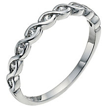 Sterling Silver & Cubic Zirconia Ring Size K - Product number 5158591