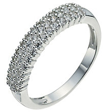 Sterling Silver & Cubic Zirconia Band Ring Size K - Product number 5158648
