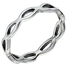 Sterling Silver Open Wave Ring Size M - Product number 5158680