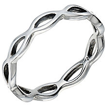 Sterling Silver Open Wave Ring Size O - Product number 5158699