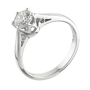 18ct White Gold 1/2 Carat Solitaire Ring