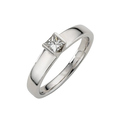 Platinum quarter carat diamond solitaire ring.