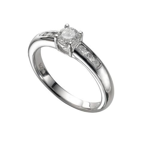 Platinum half carat diamond ring