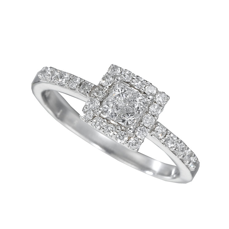 Platinum half carat diamond ring - Product number 5162629