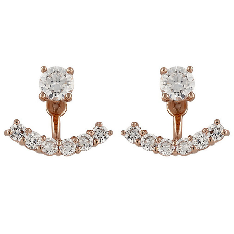 Buckley Rose Gold-Plated Cubic Zirconia Swing Ear Jackets - Product number 5163226