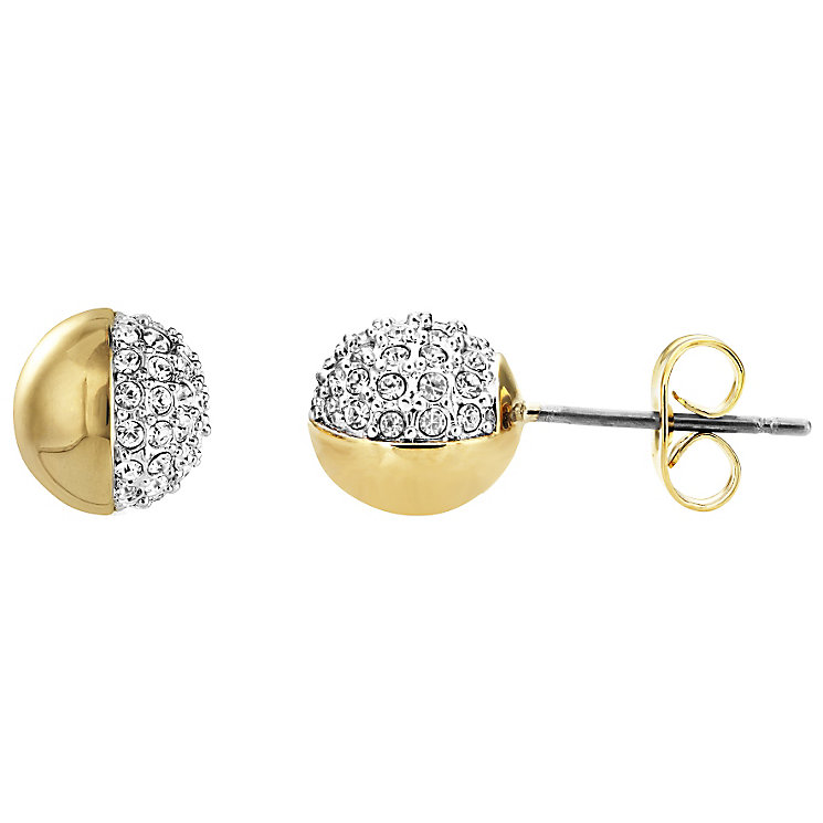Buckley Greenwich Yellow Gold Tone Ball Crystal Studs - Product number 5163838