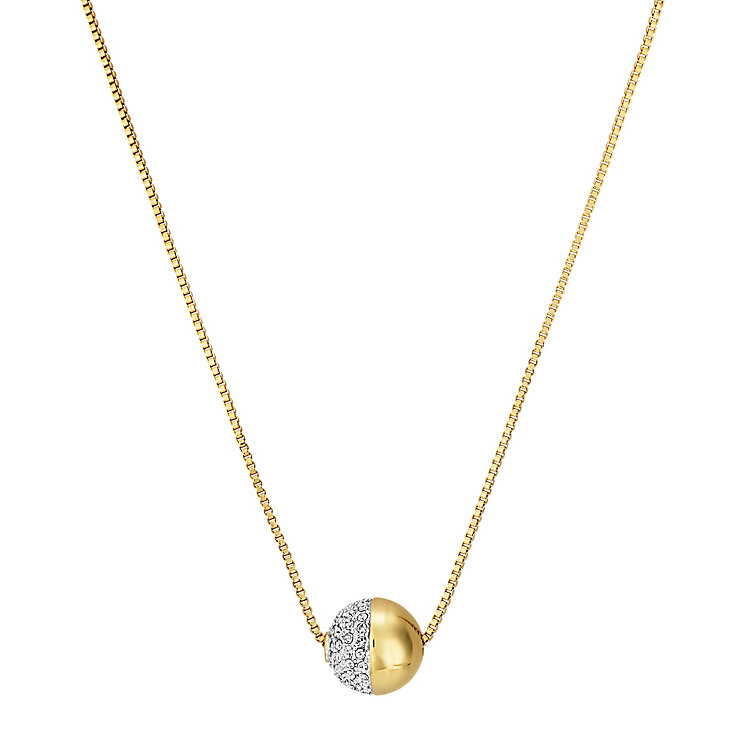 Buckley Greenwich Yellow Gold Tone Ball Crystal Pendant - Product number 5164451