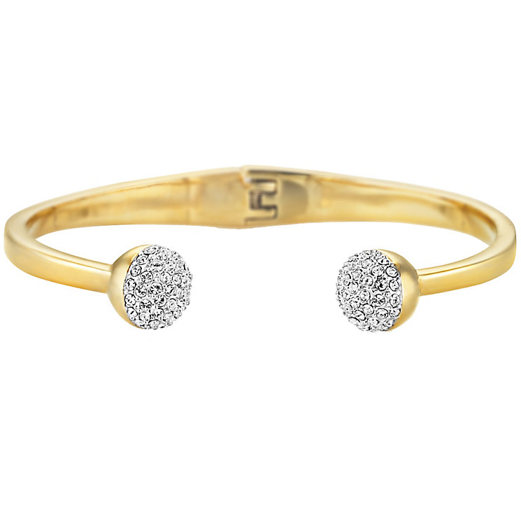 Buckley London Greenwich Yellow Gold Tone Crystal Bangle - Product number 5164583