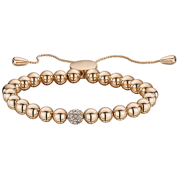Buckley Rose Gold Plated Crystal Ball Bolo Bracelet - Product number 5164591