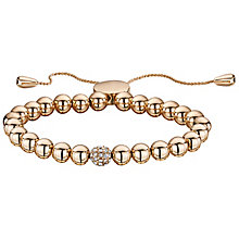 Buckley London Rose Gold Tone Crystal Ball Bolo Bracelet - Product number 5164591