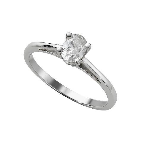 18ct white gold quarter carat diamond solitaire ring