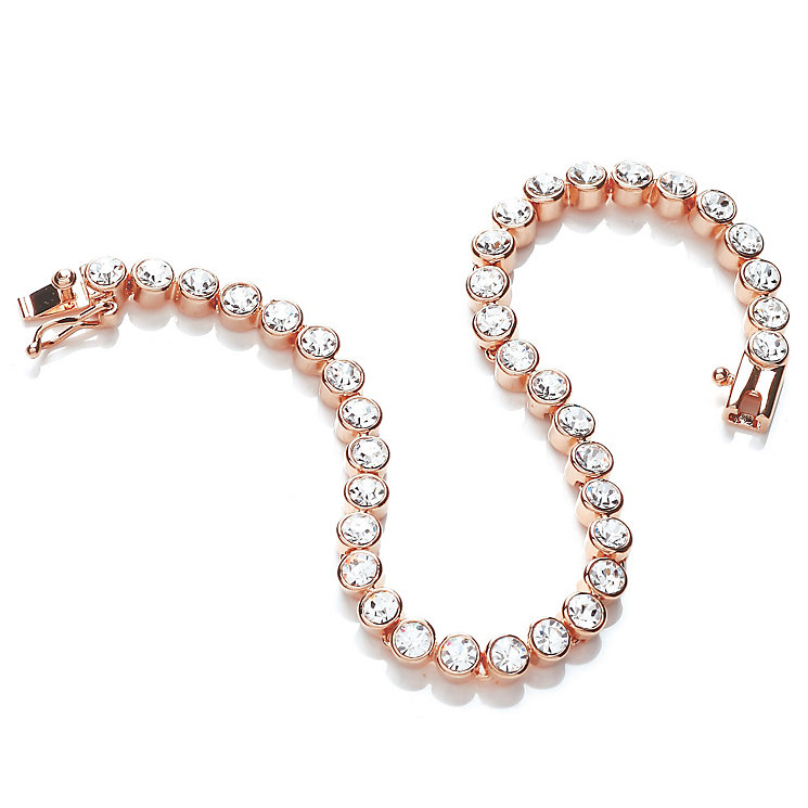 Buckley Rose Gold-Plated Cubic Zirconia Tennis Bracelet - Product number 5164745