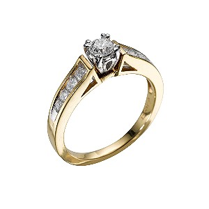 18ct gold half carat diamond ring - Product number 5164990