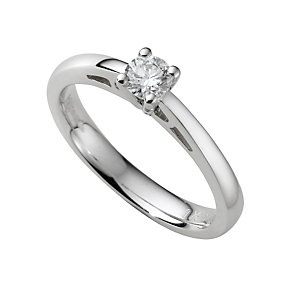 18ct white gold quarter carat diamond solitaire ring - Product number 5165466