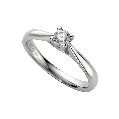 Platinum quarter carat diamond solitaire ring