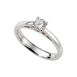 18ct white gold third carat diamond solitaire ring - Product number 5165733