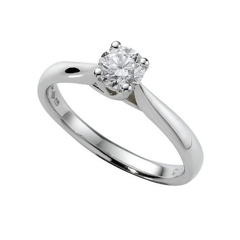 Platinum half carat diamond solitaire ring