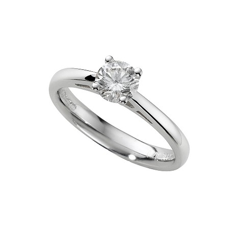 18ct white gold two third carat diamond solitaire ring