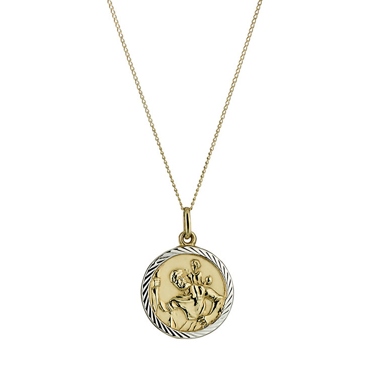 9ct Gold St Christopher Pendant - Product number 5168619