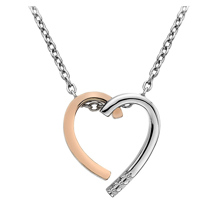 Hot Diamonds Sterling Silver & Gold-Plated Heart Pendant - Product number 5168775