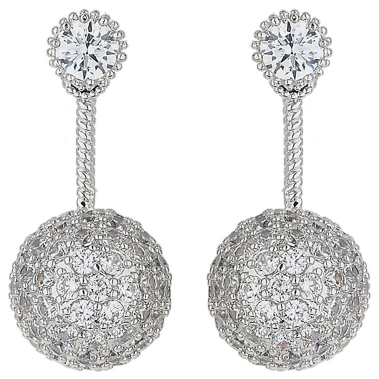 Mikey Silver ToneCubic Zirconia Twin Disco Cap Ear Jackets - Product number 5170478