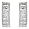 Mikey Silver Tone Baguette Cubic Zirconia Hoop Earrings - Product number 5170540
