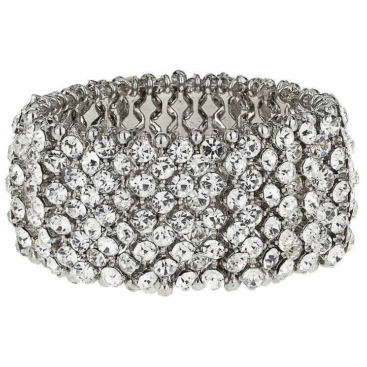 Mikey Silver Tone Crystal Elastic Bracelet - Product number 5170605