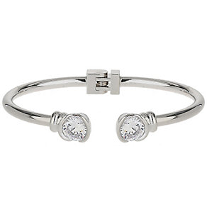 Mikey Rhodium-Plated Crystal Hinged Bangle - Product number 5170745