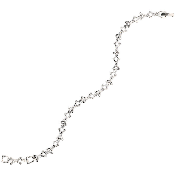 Mikey Silver Tone Hook Link Tennis Bracelet - Product number 5170788