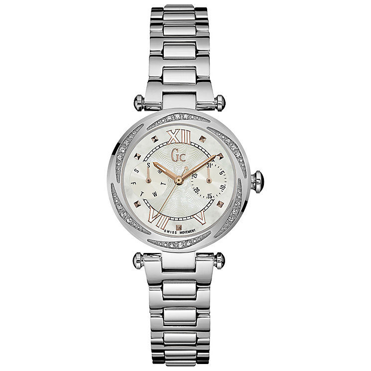 Gc Ladychic Ladies' Stainless Steel Stone Set Bracelet Watch - Product number 5177804