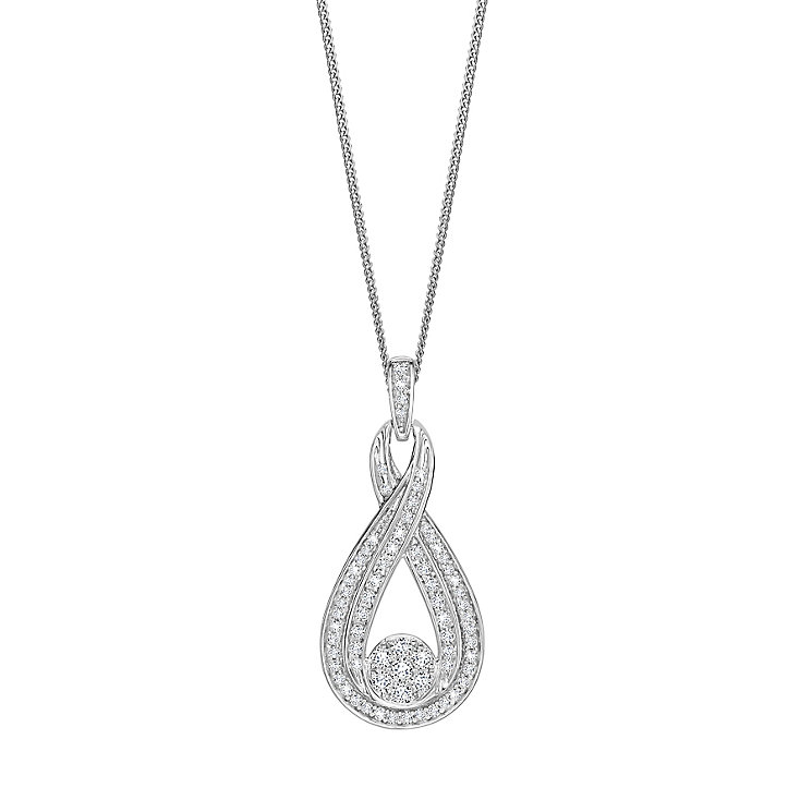 9ct White Gold 0.50ct Diamond Pendant - Product number 5179998