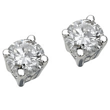9ct white gold third carat diamond solitaire earrings - Product number 5180015