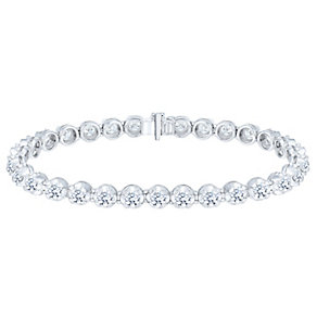 18ct White Gold 7ct Diamond Bracelet - Product number 5180465