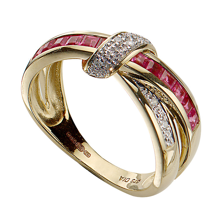 Gold Ruby and Diamond Ring - Product number 5181445