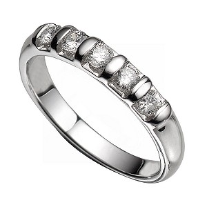 9ct White Gold Diamond Eternity Ring - Product number 5183006